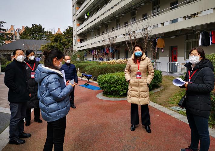 戴世明副校长率队检查留学生在线学习情况